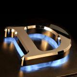 Lettres en aluminium balayées polies coupées par laser en métal d'Oxidated d'acier inoxydable