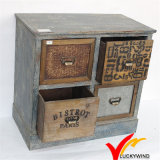Antique France Farmhouse 12 Drawers Reclaimed Wood Gabinete
