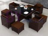 Мебель дома ротанга PE обедая комплект