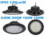 La vendita calda 130lm/W IP65 impermeabilizza 5 anni della garanzia 100W del UFO LED di indicatore luminoso basso della baia