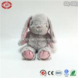 Brinquedo enchido presente de assento macio macio cinzento do coelho do luxuoso