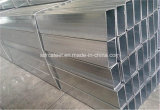 Q235 Q345 galvaniseerde de Hete ONDERDOMPELING van Ss400 Vierkante Buis met Gaten voor Frame
