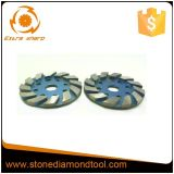 4 Zoll-Segment-konkretes Fußboden-Diamant-Metallreibende Platte