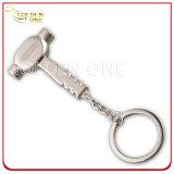 Metallo rettangolare stampabile di figura del migliore venditore & catena chiave di cuoio