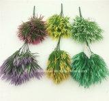 인공 플라스틱 또는 푸른 잎 풀이 나게 하십시오로 5개의 줄기 (XF90387)