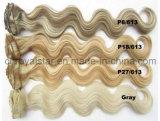 Оптовые высокотемпературные синтетические зажимы Hairpiece 12PCS в теле выдвижения волос