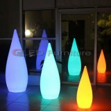 Lámpara de vector colorida de la batería de los muebles del LED para la decoración del partido