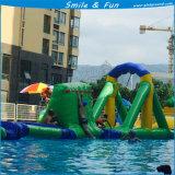 スライドのための膨脹可能な水公園装置、跳ぶトランポリン跳ね上がり