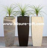 Fo9034ステンレス鋼の正方形の庭の花プランター鍋
