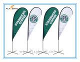 bandiera di volo di stampa del Tradeshow di 2.8m doppie/bandierina laterali di alluminio del Teardrop