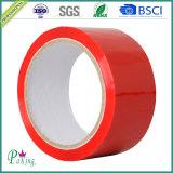 ¡Caliente! Cinta de empaquetado roja del color BOPP con la adherencia fuerte