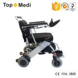 Lithium Battery를 가진 Topmedi Foldable Lightweight Aluminum Electric Wheelchairs