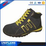 Zapatos de seguridad de goma del casquillo de acero ocasional con estilo de la punta únicos Ufa069