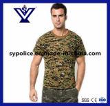 Maglietta asciutta rapida militare casuale del collo di squadra di Camo del Mens (SYSG-255)