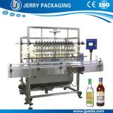 Автоматическое оборудование бутылки воды сока спирта вина разливая по бутылкам заполняя
