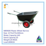 Wheelbarrow plástico resistente da bandeja do produto 2016 novo