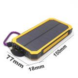 Carregador de bateria solar, carregador de telefone portátil Hallomall 15000mAh com lanterna elétrica 6LED, porta USB dual Carregador de bateria externo Banco de energia solar para telefones inteligentes C