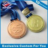 아연 합금 3D 축구 메달은 던지기 금 은 동메달, 자신의 로고를 가진 메달을 정지한다