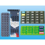 Unità di elaborazione Coated Silk Screen Elastic Rubber Silicone Keypad per Audio Equipment