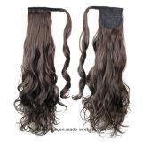 Prolongation synthétique chaude de cheveux de queue de cheval de vague d'eau de fleur de poire de vente