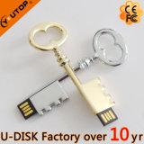 Vara feita sob encomenda do USB da chave do metal do logotipo da gravura do laser (YT-3230L)
