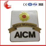 Emblema do metal da forma/fornecedor relativos à promoção do emblema