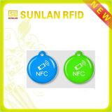 13.56 MHz Tamaño personalizado etiqueta NFC sin contacto epoxi PVC