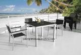 Mobília ao ar livre de venda superior do jardim Aluminum+PS-Wooden do preço do competidor que janta o jogo por Chair&Table (YT387)