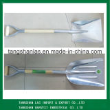 Лопата лопаткоулавливателя лопаткоулавливателя алюминиевая с деревянной ручкой