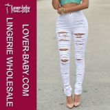 Джинсыы способа джинсовой ткани одеяния повелительниц белые (L455-1)