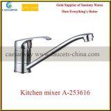 Misturador de bronze da água do dissipador de cozinha do bico longo