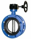 Duktiles Iron Body und Disc Double Flange Butterfly Valve