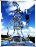 Hälfte Hb-K62 Recycler Perc Haus-Form-des rauchenden Wasser-Glasrohres