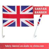 Стойка знака пляжа индикации национальная рекламируя выдвиженческий флаг автомобиля