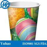 Tazas de papel de consumición frías del Milkshake del PE doble con color multi