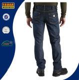 Люди Прям-Приспосабливать джинсыы джинсовой ткани