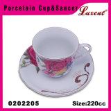 Tazze europee promozionali e piattini del ristorante di ceramica di vanità
