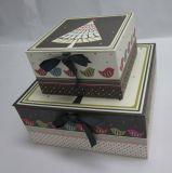 Nuevo rectángulo de zapato de papel de empaquetado de empaquetado de papel de encargo caliente del rectángulo de papel del rectángulo