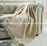 編まれた毛織の純粋なMerinoウール毛布の投球(NMQ-WT047)