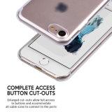 Cubierta protectora de la caja de TPU de la piel suave flexible clara fina ultra delgada del gel para el iPhone 7 de Apple
