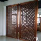 quarto moderno Divider do laser Cut Partition Screen Panel Restaurant Metal de Design