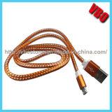Hoge Micro- USB van het Metaal van het Eind Vlakke Kabel voor Mobiele Telefoon (Cs-080)