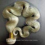 """O cabelo 18 """" - 22 """" humano brasileiro empacota o #Blonde #613 do cabelo reto"""