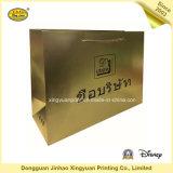 Роскошный мешок руки золота бумаги с покрытием для подарка (JHXY-PBG0011)