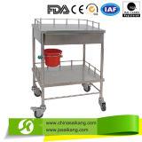 Acier inoxydable d'hôpital pour la blanchisserie rectifiant le chariot à la distribution (CE/FDA/ISO)