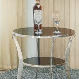 Piedini dell'acciaio inossidabile con il tavolino da salotto rotondo di vetro per uso della Camera (CT006)