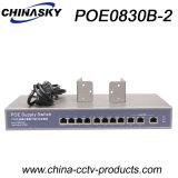 8fe Poe + 3ギガビットのアップリンクネットワークPoeスイッチ(POE0830B-2)