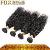 熱く新しいヘアケア製品100%のねじれた巻き毛のモンゴルのクチクラの毛