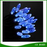 Indicatore luminoso solare della stringa del ghiacciolo dei 50 LED dell'indicatore luminoso di figura blu della fragola