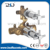 Brass Twin Chromed Cross Handles Valve thermostatique dissimulée